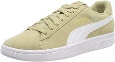 Puma Smash V2 Sneakers Unisex Damen Herren Beige/Weiß Beige Sneakers, Unisex, Shoes, Gold, Tennis, Shopping, Bag, Shoes For Less, Zapatos