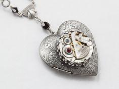 Steampunk jewelry Steampunk Necklace Heart by steampunknation