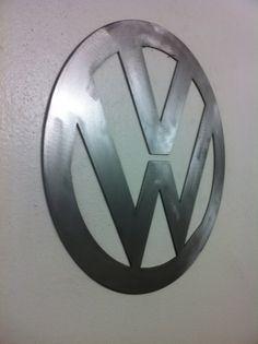 volkswagen vw logo metal wall art by LewisMetalWorks on Etsy Vw Logo, Volkswagen Logo, Metal Walls, Metal Wall Art, Cnc Plasma, Welding Art, Wall Mount, Classic Style, Ms