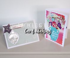 How to Create Cards by Recycling & Reusing Old Cards Old Cards, Card Making Tutorials, Reuse, Recycling, Workshop, Birthdays, How To Make, Fun, Crafts