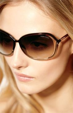 Tom Ford 'Raquel' 68mm Oversized Open Side Sunglasses | Nordstrom - I want these in black!!!