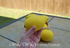 Felt Food Lemon