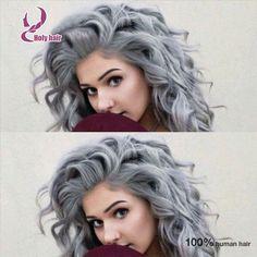 Ombre brazilian hair wigs lace grey glueless full lace wigs&lace front silver human hair wigs body wave brazilian virgin hair
