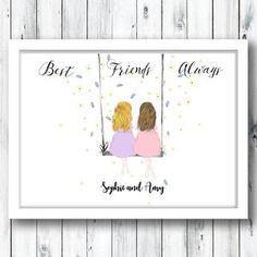 Personalized Best Friend Gifts, Bff Gifts, Sister Gifts, New Baby Gifts, Gifts For Friends, Personalised Gifts, Button Family Picture, Family Picture Frames, Christmas Gifts For Sister