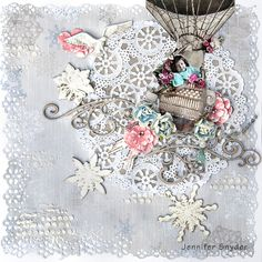 Winter Balloon Ride -Scraps Of Elegance - created by Jennifer Snyder with our Winter Wishes kit