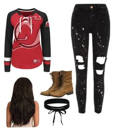 """""""February hockey day"""" by bunnydaisy on Polyvore featuring Majestic and Boohoo"""