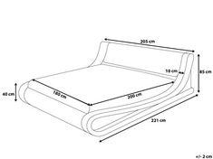 Bed Headboard Design, Bed Frame Design, Bedroom Closet Design, Bedroom Furniture Design, Tv Unit Furniture, Bed Furniture, Timber Bed Frames, House Design Drawing, Bed Measurements