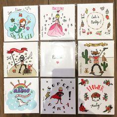 Les cartes d'invitation d'anniversaire de Mathilde Cabanas