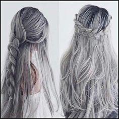 Graue Haare färben wie? (Zu Hause, grau) | Einfache Frisuren