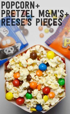 Pretzel M&M's and Reese's Pieces Life-Changing Combinations Of Movie Candy and Popcorn