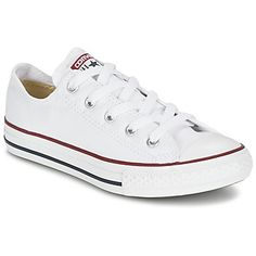 Legendarisch onder de mythische modellen, is de Chuck Taylor ALL STAR van Converse een must-have. Dit is een lage versie van canvas met klassieke opdruk en is volledig tijdloos!  - Kleur : Wit / Optisch - Schoenen Kind € 38,99