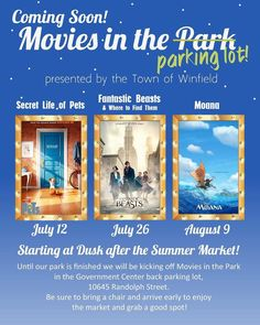 The Town of Winfield is happy to announce Movies in the Park(ing lot)! Three movies will be shown this summer at the Winfield Government Center parking lot at dusk after the Summer Market. More details will be posted closer to the event dates see the flyer below to save the dates! #Realest #SasoHomes #Winfiled #moviesatthepark #awesome #realestate #realestatelife #CrownPoint #love #potd #community #instahomes #instagood #movies #disney #nwi #home #homes #sold #realtor #broker #realtors…