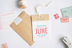 Oh So Beautiful Paper: Brooke + Ryan's Luggage Tag Save the Dates