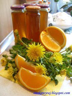 Smakowy Raj - blog kulinarny: Syrop z mniszka lekarskiego (mlecza) wg receptury św. Hildegardy z Bingen- wersja z cytryną lub pomarańczą :)