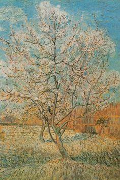 Pêchers en fleurs Vincent Van Gogh #fleurs #vangogh #montableau.com www.montableau.com