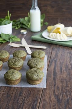 Green Monster Smoothie Muffins