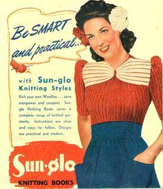 Aloha, 1940s Pin-Up ribbed jumper - vintage knitting pattern PDF (459)