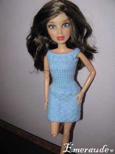 Tricot: Robe d'été n°11 pour Barbie ou LIV