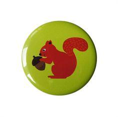 Squirrel Pocket Mirror. Design Sara Vestberg. www.saravestberg.co.uk
