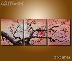 huge-wall-art-cherry-blossom-flower-oil-painting-deco-3-245c3.jpg 500×428 pixels