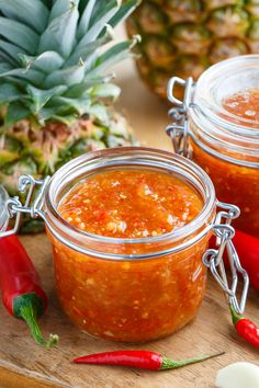 Pineapple Sweet Chili Sauce... used with his coconut shrimp!!