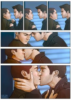 teamsterekonline:  #ThrowbackSterek   what if the 1x09 bedroom scene went another way? by Caroline