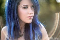 blue hair! omg, I just love it ♥