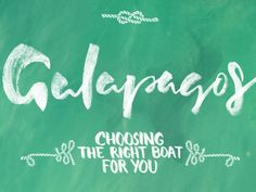 Choosing the right Galapagos Cruise for you! An easy-to-use illustration to help you decide on the right boat for you from TerraDiversa.