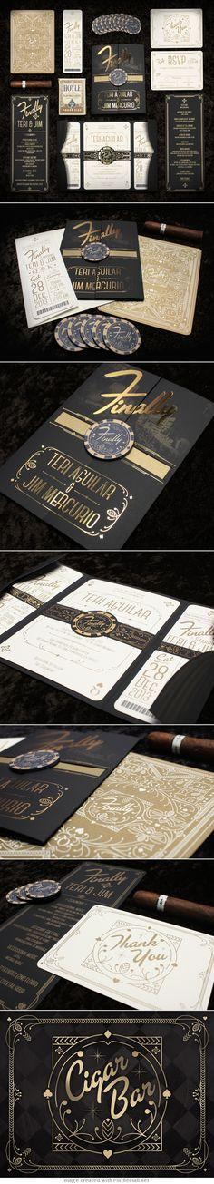 Mercurio Wedding Invitations - Anthony Gregg via Behance
