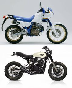 Honda Dominator transformation. Imagination and creativity should never be underestimated.