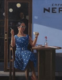 Cafe Inevitable - Coffee Time by Jack Vettriano oil on canvas Jack Vettriano, The Singing Butler, Michael Carter, Edward Hopper, Coffee Time, Coffee Break, Cool Artwork, Sunsets, Inspiration