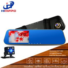HIHIPPO car dvrs dash camera  video recorder car dvr camera car camera  hd 1080p dual camera Camcorder With 4.3 Inches TFTD