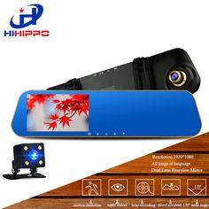 HIHIPPO car dvrs dash camera  video recorder car dvr camera car camera  hd 1080p dual camera Camcorder With 4.3 Inches TFTD