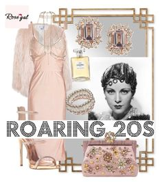 """Roaring 20s"" by magdalene-giannini ❤ liked on Polyvore featuring Uttermost, Sans Souci, Giuseppe Zanotti, River Island, John Lewis, Dolce&Gabbana and Chanel"