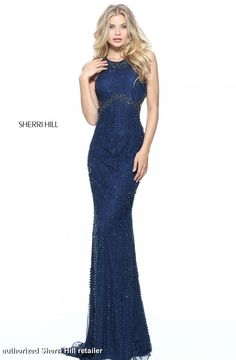 Sherri Hill 51080 is a sleeveless, fitted prom dress with a jeweled  neckline, keyhole bodice and a beaded open back. | Sherri Hill Spring 2018  | Pinterest ...