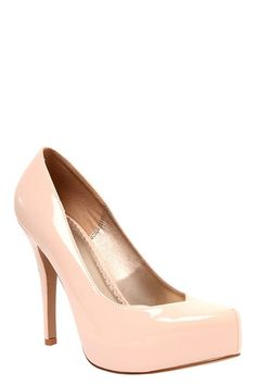 System Nude Patent Leather Heel (Wide Width) | Heels  To go with the baby pink dress I found