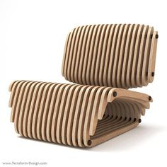 Levigo Chair - CNC Cut Parametric Chair & Lounge