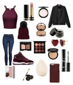 """Velvet look"" by rainn1233 on Polyvore featuring Topshop, Maison Margiela, Betsey Johnson, Gucci, MAKE UP FOR EVER, MAC Cosmetics, Wander Beauty, NARS Cosmetics, Clinique and Christian Dior"