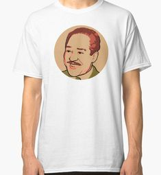 'Langston Hughes' Classic T-Shirt by savantdesigns Langston Hughes, Literary Tattoos, Small Tattoos, Sleeve Tattoos, Chiffon Tops, Classic T Shirts, Canvas Prints, Sleeves, Mens Tops