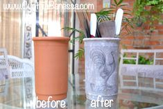 Transfer Clay Pots to Amazing Home Decor