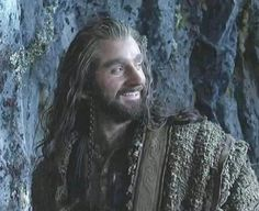 More happy Thorin! This was when Richard Armitage got Durin's Key stuck in the keyhole in the bloopers. :D