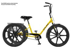 Sun Adult Trike  -  bike, three wheeler.  nice bikes, this one looks a little stronger for rougher terrain.  other models available, cargo, etc.  don't like any recumbent bikes.  good, keep.   lj
