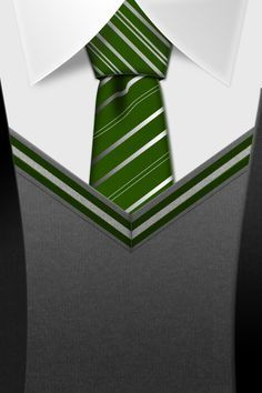 Slytherin Tie HD, iphone wallpaper by ~Tinsdar on deviantART (All houses available) So Cute!