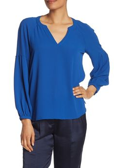 Bluza dama azur Vince Camuto, Nordstrom Rack, Bubbles, Tunic Tops, Sleeves, Model, How To Wear, Shopping, Style