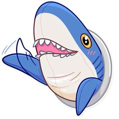 Telegram Sticker from collection «Blahaj Emoji Drawings, Cute Kawaii Drawings, Panda Tour, Shark Pictures, Shark Plush, Telegram Stickers, Ikea, Baby Shark, Cute Animals