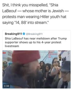 Wording is important bc this article intentionally suggests that he becomes hysterical at the sight of a Trump supporter doing nothing wrong, when, in reality, he is upset by someone intentionally bringing Nazi gear into his stream.