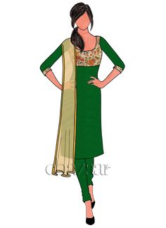 Buy online Salwar Kameez for women at Cbazaar for weddings, festivals, and parties. Explore our collection of Salwar suits with the latest designs. Fashion Design Sketchbook, Fashion Design Drawings, Fashion Sketches, Dress Illustration, Fashion Illustration Dresses, Fashion Illustrations, Churidar Designs, Lehenga Designs, Diy Fashion Dresses