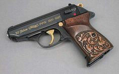 Walther PPK x frame wood grips Bushcraft, Weapons Guns, Guns And Ammo, Rifles, Walther Pp, Pocket Pistol, Custom Guns, Fire Powers, Home Defense
