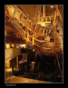 The Vasa from the Bow - Stockholm