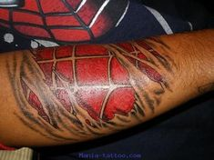 In Honor of Lou and The Hulk, this edition of Taturday features Marvel Comics! Check them out and enjoy your Taturday! 3d Tattoos For Men, Red Ink Tattoos, Fake Tattoos, Tattoo Women, Tattoo Ink, Temporary Tattoo Sleeves, Temporary Tattoos, Sleeve Tattoos, Spiderman Tattoo